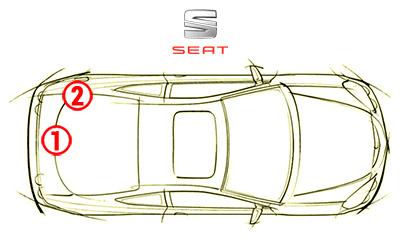 trouver code couleur seat