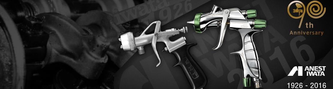 Pistolets à peinture et vernis Anest Iwata